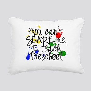 Preschool Scare copy Rectangular Canvas Pillow