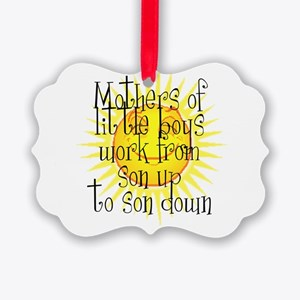 son up shirt 2 copy.jpg Picture Ornament