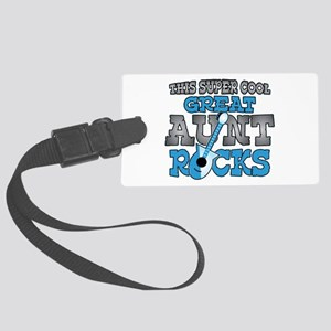 Great Aunt Rocks Large Luggage Tag