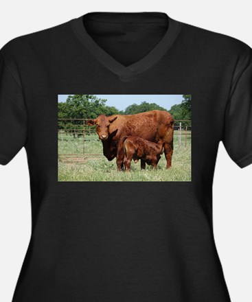 Beefmaster cow and calf Plus Size T-Shirt