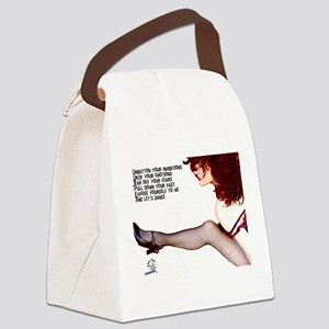 Unbutton Your Inhibitions Canvas Lunch Bag