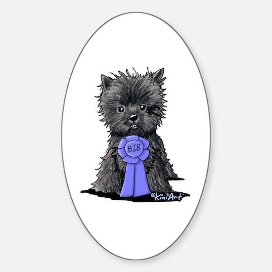 Best In Show Affenpinscher Sticker (Oval)