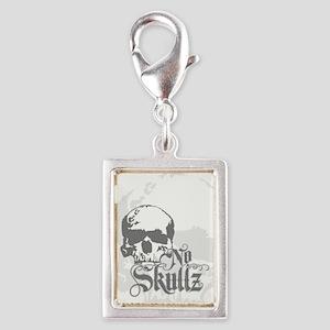 No skulls Silver Portrait Charm