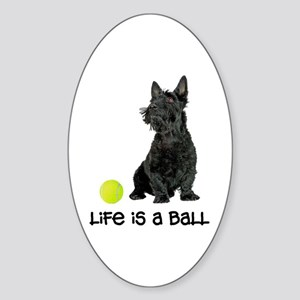 Scottish Terrier Life Sticker (Oval)