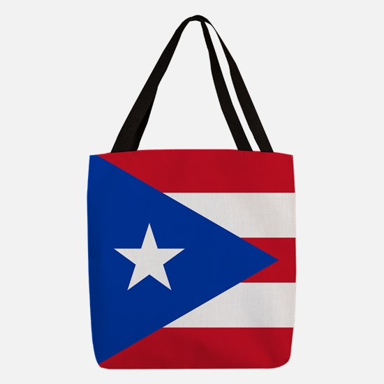 Flag of Puerto Rico Polyester Tote Bag
