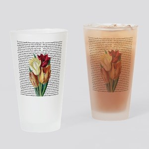 Vintage Tulips Drinking Glass