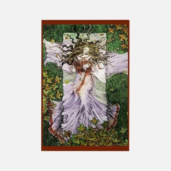 Fairy Tale Sleeping Woman Rectangle Magnet