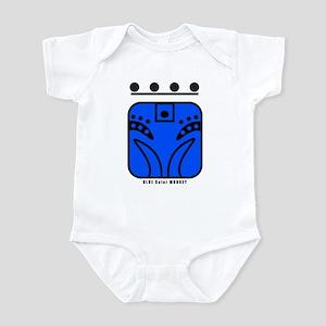 BLUE Solar MONKEY Infant Bodysuit