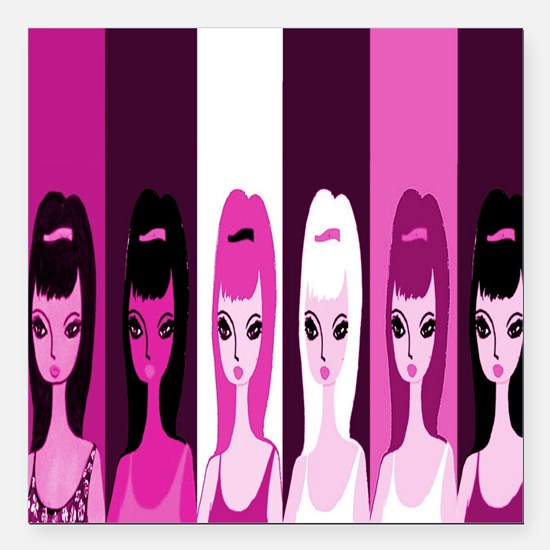 """Girls Night Out 2013 Square Car Magnet 3"""" x 3"""""""