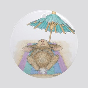 Bunny In Paradise Ornament (Round)