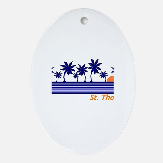 Unique St thomas usvi Oval Ornament