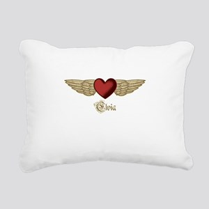 Elvia the Angel Rectangular Canvas Pillow