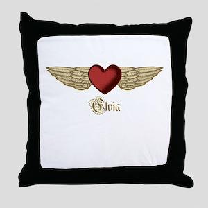 Elvia the Angel Throw Pillow