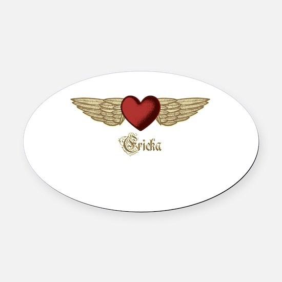 Ericka the Angel Oval Car Magnet