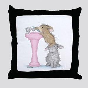 Bunny Lift Throw Pillow