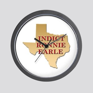 Indict Ronnie Earle Wall Clock