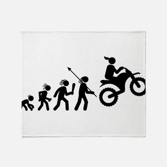 Dirt Bike Throw Blanket