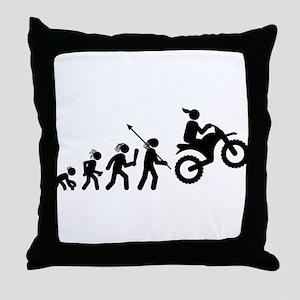 Dirt Bike Throw Pillow