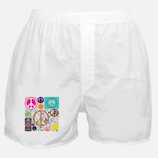 Peace Paisley Collage Boxer Shorts