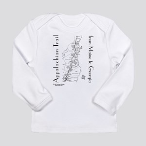Appalachian Trail Map Long Sleeve Infant T-Shirt