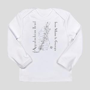 cfa44792a0b Appalachian Trail Map Long Sleeve Infant T-Shirt