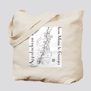 Appalachian Trail Map Tote Bag