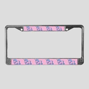 Cute Unicorn License Plate Frame