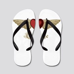 Guadalupe the Angel Flip Flops