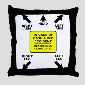 Reassemble Base Jumping Funny T-Shirt Throw Pillow