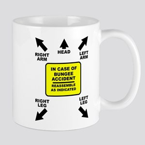 Reassemble Bungee Jumping Funny T-Shirt Mug