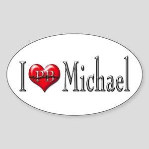 I heart Michael Oval Sticker