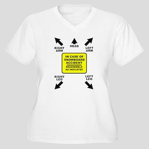 Reassemble Snowboarding Snowboard Funny T-Shirt Pl