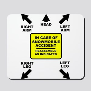 Reassemble Snowmobile Funny Mousepad