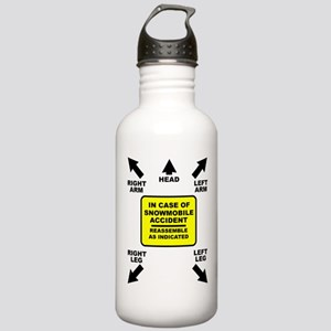 Reassemble Snowmobile Funny Water Bottle