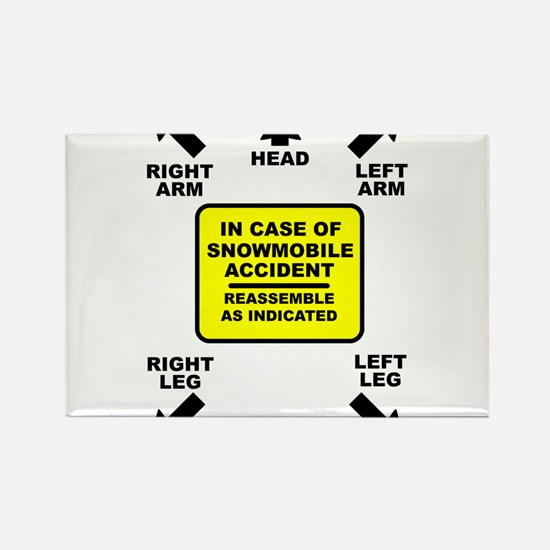 Reassemble Snowmobile Funny Rectangle Magnet