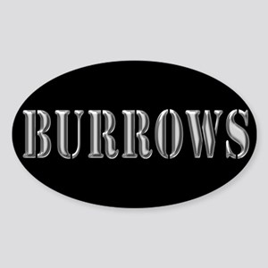 Burrows - Prison Break Oval Sticker