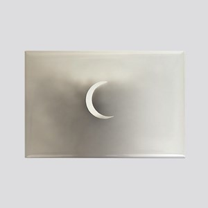 Solar Eclipse Sepia Rectangle Magnet