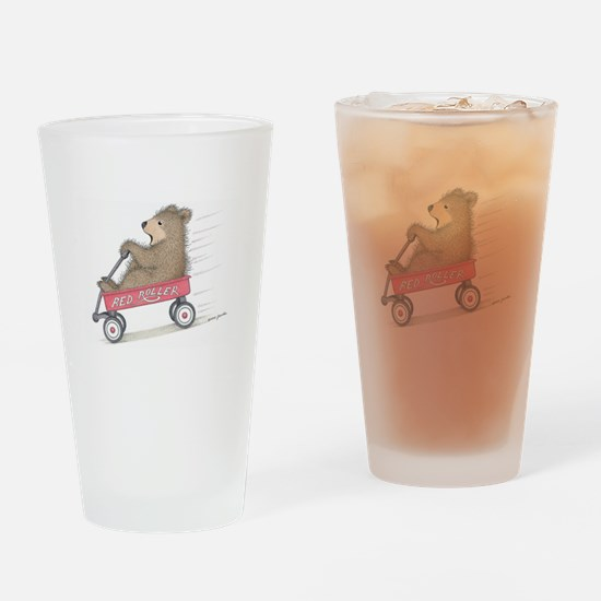 Red Roller Racing Drinking Glass