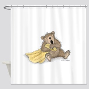 Beary Big Yawn Shower Curtain