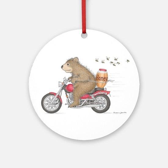 Honey on the Run Ornament (Round)