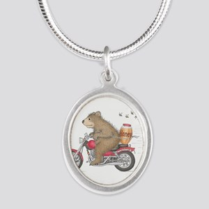 Honey on the Run Silver Oval Necklace