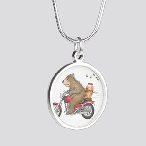 Honey on the Run Silver Round Necklace