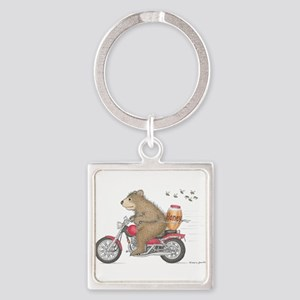Honey on the Run Square Keychain