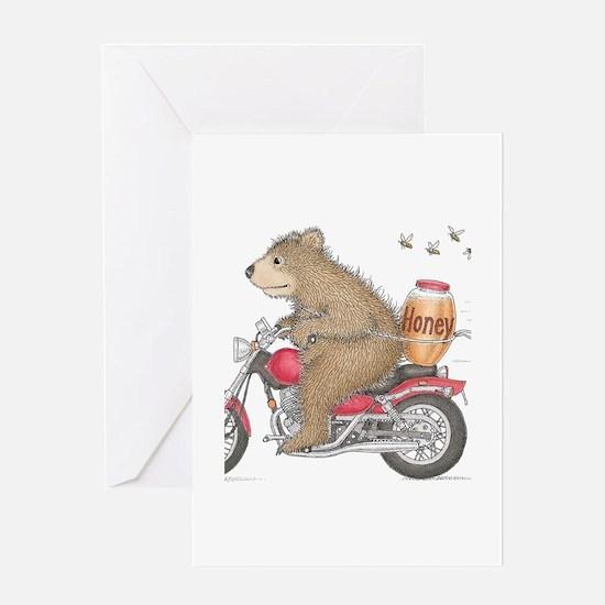Honey on the Run Greeting Card