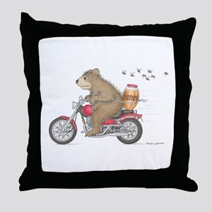 Honey on the Run Throw Pillow