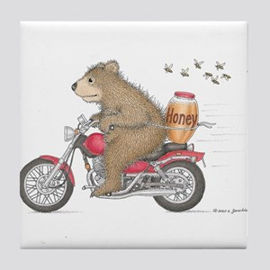 Honey on the Run Tile Coaster