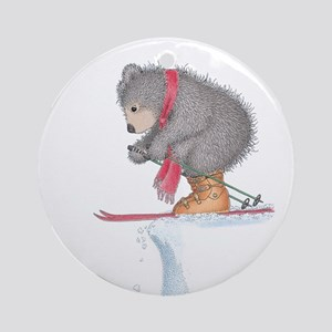 To Ski or Not to Ski Ornament (Round)