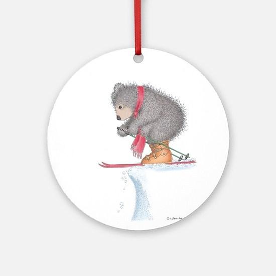 To Ski or Not to Ski Ornament (Round)