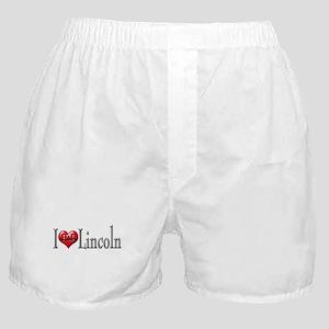 I heart Lincoln Boxer Shorts
