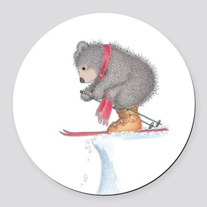 To Ski or Not to Ski Round Car Magnet